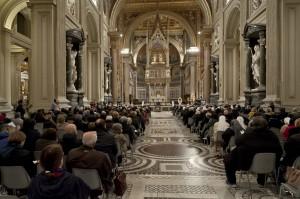 Prayer Vigil  in the week of charity in Rome