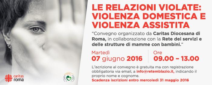 Le relazioni violate: violenza domestica e violenza assistita