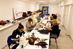 Tailoring workshop for disadvantaged people in Rome