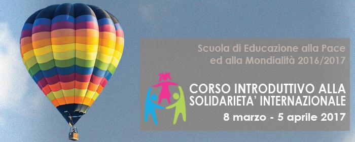 Corso Introduttivo alla Solidarietà Internazionale 2017