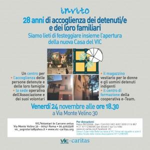 Invito Innaugurazione NUOVA CASA VIC - 24112017