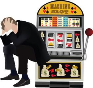 disperato alla slot machine