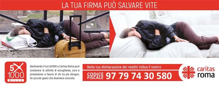 Il tuo 5xmille alla Caritas di Roma