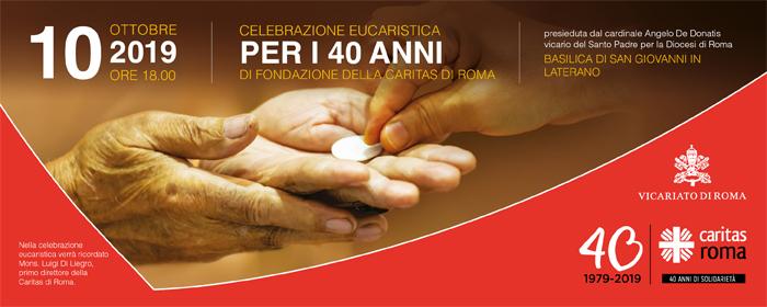Celebrazione eucaristica 40° della Caritas
